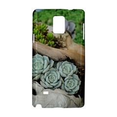 Plant Succulent Plants Flower Wood Samsung Galaxy Note 4 Hardshell Case