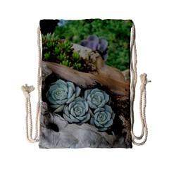 Plant Succulent Plants Flower Wood Drawstring Bag (Small)