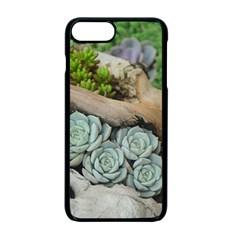 Plant Succulent Plants Flower Wood Apple iPhone 7 Plus Seamless Case (Black)