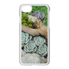 Plant Succulent Plants Flower Wood Apple iPhone 7 Seamless Case (White)