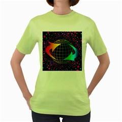 Recycling Arrows Circuit Women s Green T-Shirt
