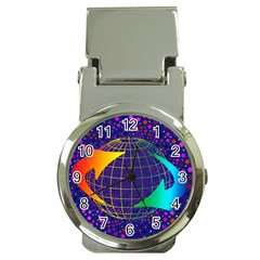 Recycling Arrows Circuit Money Clip Watches