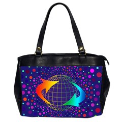 Recycling Arrows Circuit Office Handbags (2 Sides)