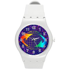Recycling Arrows Circuit Round Plastic Sport Watch (M)