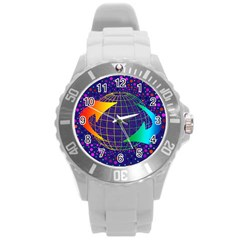 Recycling Arrows Circuit Round Plastic Sport Watch (L)