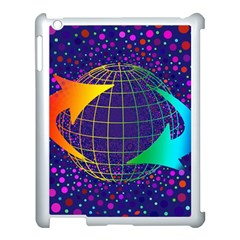 Recycling Arrows Circuit Apple iPad 3/4 Case (White)