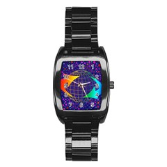 Recycling Arrows Circuit Stainless Steel Barrel Watch