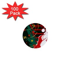 Santa Clause Xmas 1  Mini Buttons (100 pack)