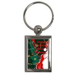 Santa Clause Xmas Key Chains (Rectangle)