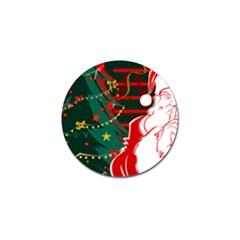 Santa Clause Xmas Golf Ball Marker (10 pack)