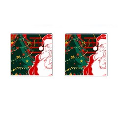 Santa Clause Xmas Cufflinks (Square)