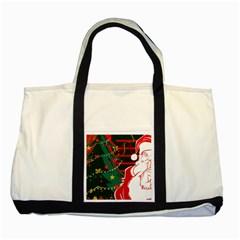 Santa Clause Xmas Two Tone Tote Bag