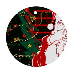 Santa Clause Xmas Round Ornament (Two Sides)
