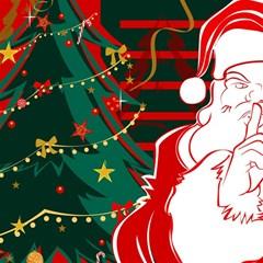 Santa Clause Xmas Magic Photo Cubes