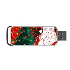 Santa Clause Xmas Portable USB Flash (One Side)