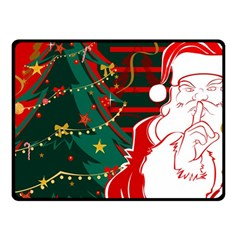 Santa Clause Xmas Double Sided Fleece Blanket (Small)
