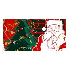 Santa Clause Xmas Satin Shawl
