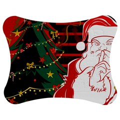 Santa Clause Xmas Jigsaw Puzzle Photo Stand (Bow)