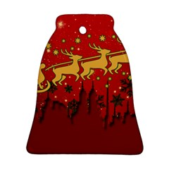 Santa Christmas Claus Winter Ornament (Bell)