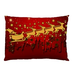 Santa Christmas Claus Winter Pillow Case (Two Sides)