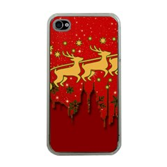 Santa Christmas Claus Winter Apple iPhone 4 Case (Clear)