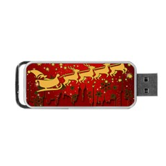 Santa Christmas Claus Winter Portable USB Flash (Two Sides)