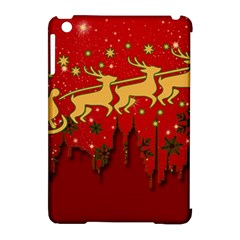 Santa Christmas Claus Winter Apple iPad Mini Hardshell Case (Compatible with Smart Cover)