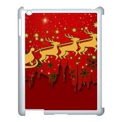 Santa Christmas Claus Winter Apple iPad 3/4 Case (White)