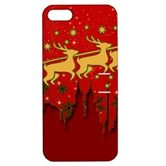 Santa Christmas Claus Winter Apple iPhone 5 Hardshell Case with Stand