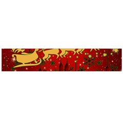 Santa Christmas Claus Winter Flano Scarf (Large)