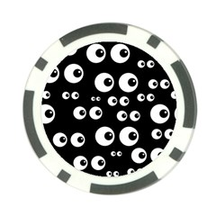 Seamless Eyes Tile Pattern Poker Chip Card Guards
