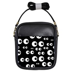 Seamless Eyes Tile Pattern Girls Sling Bags