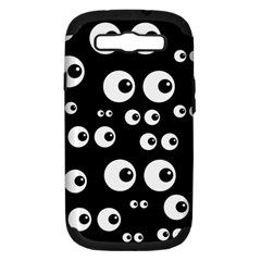 Seamless Eyes Tile Pattern Samsung Galaxy S III Hardshell Case (PC+Silicone)