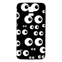 Seamless Eyes Tile Pattern Samsung Galaxy S5 Back Case (White)