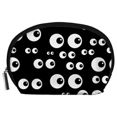 Seamless Eyes Tile Pattern Accessory Pouches (Large)