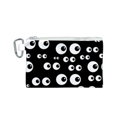 Seamless Eyes Tile Pattern Canvas Cosmetic Bag (S)