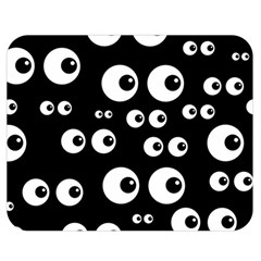 Seamless Eyes Tile Pattern Double Sided Flano Blanket (Medium)