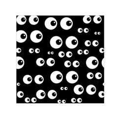 Seamless Eyes Tile Pattern Small Satin Scarf (Square)
