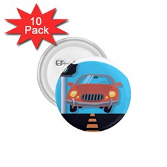 Semaphore Car Road City Traffic 1.75  Buttons (10 pack)