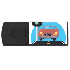 Semaphore Car Road City Traffic USB Flash Drive Rectangular (4 GB)