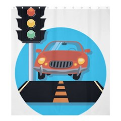 Semaphore Car Road City Traffic Shower Curtain 66  x 72  (Large)