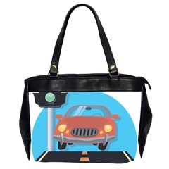 Semaphore Car Road City Traffic Office Handbags (2 Sides)