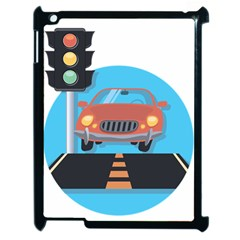 Semaphore Car Road City Traffic Apple iPad 2 Case (Black)
