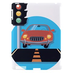 Semaphore Car Road City Traffic Apple iPad 3/4 Hardshell Case (Compatible with Smart Cover)