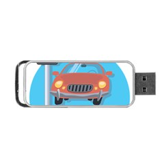 Semaphore Car Road City Traffic Portable USB Flash (One Side)