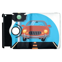 Semaphore Car Road City Traffic Apple iPad 3/4 Flip 360 Case
