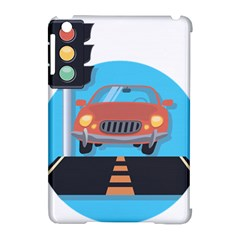 Semaphore Car Road City Traffic Apple iPad Mini Hardshell Case (Compatible with Smart Cover)