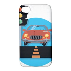 Semaphore Car Road City Traffic Apple iPhone 4/4S Hardshell Case with Stand