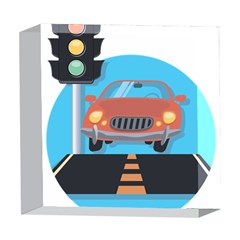 Semaphore Car Road City Traffic 5  x 5  Acrylic Photo Blocks
