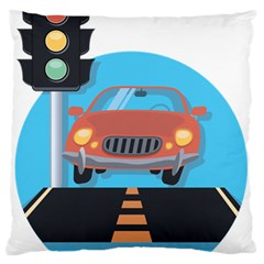 Semaphore Car Road City Traffic Standard Flano Cushion Case (One Side)